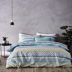 Featuring a beautiful display of unique patterns and pops of bright colour, the Conchita quilt cover set has been made from cotton and is a great value design.
