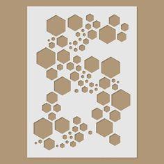 Super Hexagon Stencil by StencilDirect on Etsy