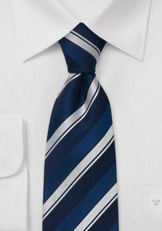 Krawatte blau mit silber