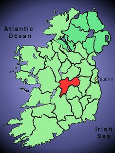 County Offaly, origin of Molloy surname.