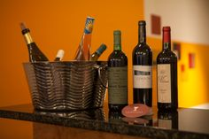 A sampling of Uvaggio's extensive wine selection.