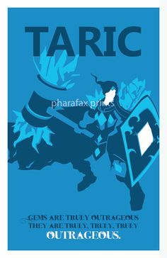 Taric: League of Legends Print por pharafax en Etsy
