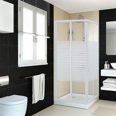 Un binomio en blanco y negro. #sanitario #leroymerlin #mampara #design