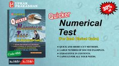 Quicker Numerical Test Book for Bank Clerical Cadre Entrance Exam Preparation with 30% Off.