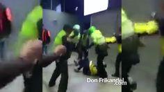 Policías de Bogotá propinan brutal golpiza a periodistas de City TV, Col...