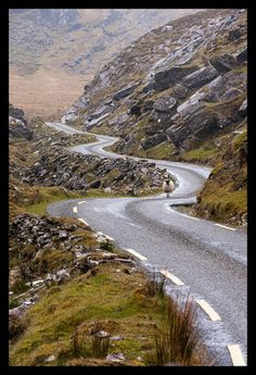 Kerry, Ireland.- driving on the wrong side of the car and the road.