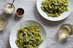 Broccoli Rabe Pesto is a healthy and tasty alternative to traditional pesto. It provides a bold taste and pairs well with your favorite cheese. Very high Sodium leave out cooking salt for Broccoli Rabe and Pasta Fusilli, use salt at table. Use Pecorino Romano cheese and unsalted almonds.