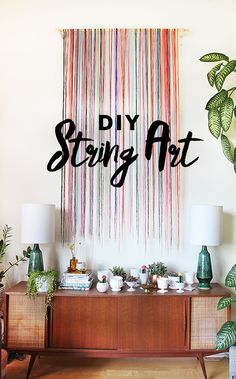 DIY String Wall Art | The Sweet Escape | Bloglovin'