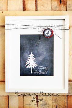 Chalkboard Christmas Print at Sweet Rose Studio