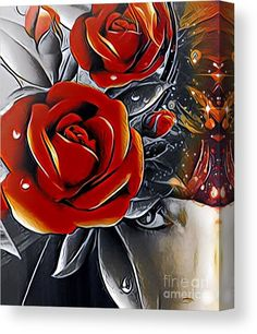 Digital art perfect for home decor, print-on-demand art #arankaarts #digitalart #abstactart #fineartamerica #pixels Stretched Canvas Prints, Framed Prints, Art Prints, Abstract Drawings, Tag Art, Canvas Material, Wood Print, Fiber Art, Red Roses