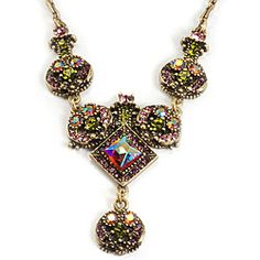Sweet Romance 1950s Retro Glamour Crystal Necklace