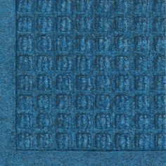 "Andersen 280 Medium Blue Polypropylene WaterHog Fashion Entrance Mat, 6' Length x 4' Width, For Indoor/Outdoor by Andersen. $85.79. No other mat in the industry traps water and dirt so effectively. WaterHog mats are constructed of rubber reinforced face nubs and the ""waffle"" design provides crush proof scraping action. Raised, ""Water Dam"" borders trap dirt and water keeping floors cleaner and safer. These mats are perfect indoors or out, especially outside your front door. ..."