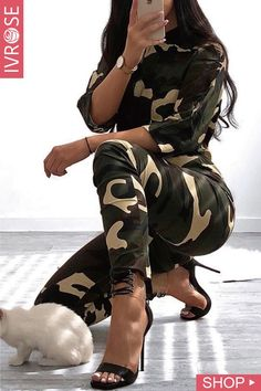 Entertainment Discover Camouflage Print Drawstring Roll-Up Sleeve Jumpsuit 2138 Best Women& Fashion images Camo Outfits Mode Outfits Casual Outfits Sequin Party Dress Party Dresses Jumpsuit With Sleeves Roll Up Sleeves Online Dress Shopping Cheap Fashion Cute Lazy Outfits, Camo Outfits, Mode Outfits, Casual Outfits, Womens Fashion Online, Cheap Fashion, Fashion Women, Camo Gear, Sequin Party Dress