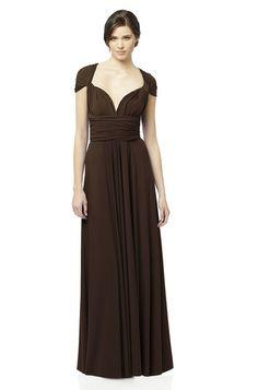 Dessy Twist Wrap: Long Bridesmaid Dress | Weddington Way