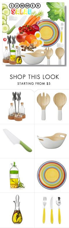 """""""Summer Salad"""" by queenvirgo ❤ liked on Polyvore featuring interior, interiors, interior design, home, home decor, interior decorating, Lene Bjerre, OXO, Pier 1 Imports and LSA International"""