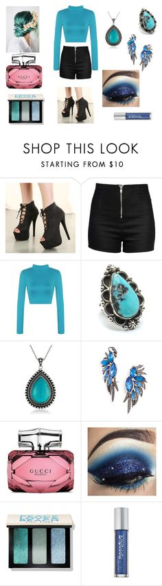 """""""Amore"""" by mariaalexandraalvarezguerrero on Polyvore featuring Love Moschino, WearAll, Child Of Wild, BaubleBar, Gucci, Bobbi Brown Cosmetics and Urban Decay"""
