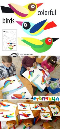 "Great idea for paper birds! They are made by the kids from the kids from the ""Step"" workshop in Sofia..."