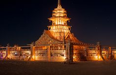 Beautiful Wat Temple.  Burning Man 2012 by TWITA2005, via Flickr