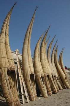 Reed rafts from Northern Peru's Huanchaco
