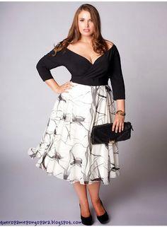 vestidos para mujeres gordas con mucha panza - Buscar con Google