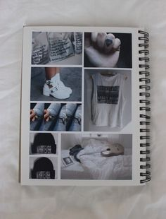 IY create your own wall art of what you love Notebook Collage, Diy Notebook, Photography Journal, Tumblr Photography, Wreck This Journal, My Journal, Tumblr Scrapbook, Pale Tumblr, Tumblr Quality