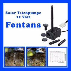 Einzelpumpe Fontana Solarpumpe Teichpumpe Tauchpumpe Gartenpumpe 12 Volt 101751