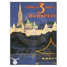 Arte do poster de viagens de Budapest Hungria