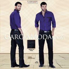 Pantalón Premium Lamasini Jeans 1218 Mezclilla negro, Corte Straight Leg con bordado bolsillos traseros