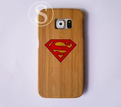 Superhero phone case Wooden galaxy S6 case Samsung by SimpleBest