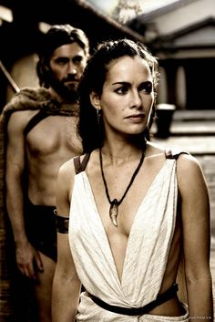 Spartan Queen. Greek style dress i love all her costumes in this movie #300