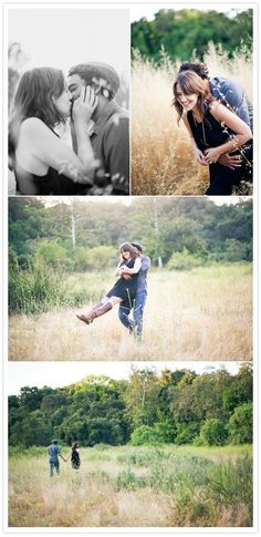 Super adorable engagement photos outside. WIN #100layercake
