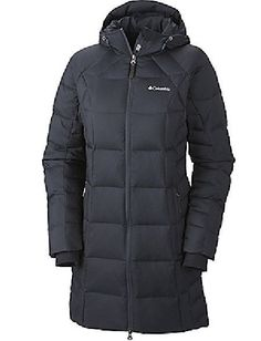 ($240) COLUMBIA WOMENS XL HEXBREAKER  LONG DOWN OMNI HEAT  JACKET/COAT WARM!! #Columbia #downjacket