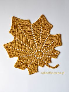 Depending on the material used may be an applique, a doily, rug. A thicker yarn and larger size crochet hook, bigger leaf.