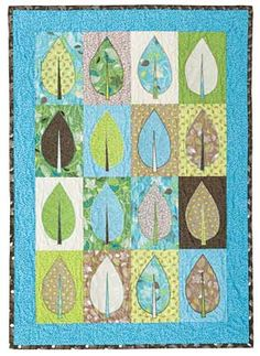 City Leaves Pattern Download from ConnectingThreads.com Quilting by Nancy Rink Designs