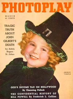 1936 Cover Photoplay March Shirley Temple Child Actor Star Hollywood Movie Film #shirleytemple