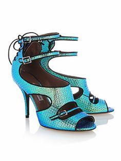 Guiseppe Zanotti Metal Plated Booties - Fall 2013 Futuristic Shoe Fashion - Marie Claire