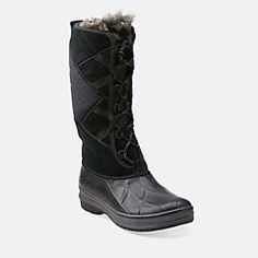 Muckers Storm Black Suede WaterProof - Clarks Womens Shoes - Womens Heels and Flats - Clarks - Clarks® Shoes