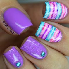Sharpie Watercolor Nails Tutorial Floss Gloss Lean swatch