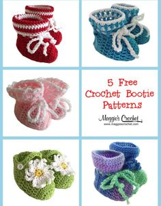 Mother's Day – 5 Free Crochet Baby Bootie Patterns