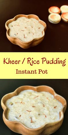 Making Kheer or Rice Pudding in the instant pot is so easy. Made with rice and milk infused with saffron, cardamom and assorted dried fruits. Just add all the ingredients and set to Porridge mode. Come back to perfectly creamy kheer in less than 40 mins! Instant Pot Pressure Cooker, Pressure Cooker Recipes, Slow Cooker, Indian Desserts, Indian Food Recipes, Easy Indian Dessert Recipes, Indian Sweets, Indian Kheer Recipe, Sweets