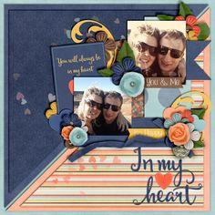 Kit: In my heart mini kit - Jennifer Labre Designs Template: Split Decision Vol 1 - Meagan's Creations Greenery: Life Captured March - Jennifer Labre Designs