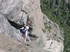 Shelley climbing at Yosemite Nat'l Park