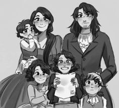 Hamilton Family when Philip was 9 years old♡♡♡ They are Philip, Angelica, Alexander jr, and James♡