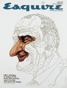 Esquire LBJ cover. June 1967