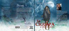 """Diseño de portada para el libro (full cover) """"La Ciguapa y otros cuentos"""" de la escritor María Mancebo"""
