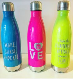 Totally obsessed with our new neon #BarMethod water bottles! Get 'em while they're hot. Hydrate to dominate! ;) #neon #new #hydrate #love