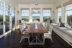 Houzz - beautiful setting also love the window seats