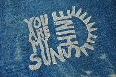 These are a delight! ~ Meg You Are My Sunshine Patch - Hand Printed Indigo Patch Fabric Patch, Fabric Squares, Quilt Labels, Diy Patches, Quirky Gifts, You Are My Sunshine, Boro, Linen Fabric, Quilt Blocks
