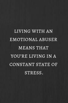 living with an emotional abuser like NNB, means that you're living in a constant state of stress. Great Quotes, Quotes To Live By, Me Quotes, Inspirational Quotes, Faith Quotes, Affirmations, Under Your Spell, Narcissistic Behavior, Narcissistic Men