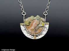 Bubbling Over - Ocean Jasper Sterling Silver Necklace